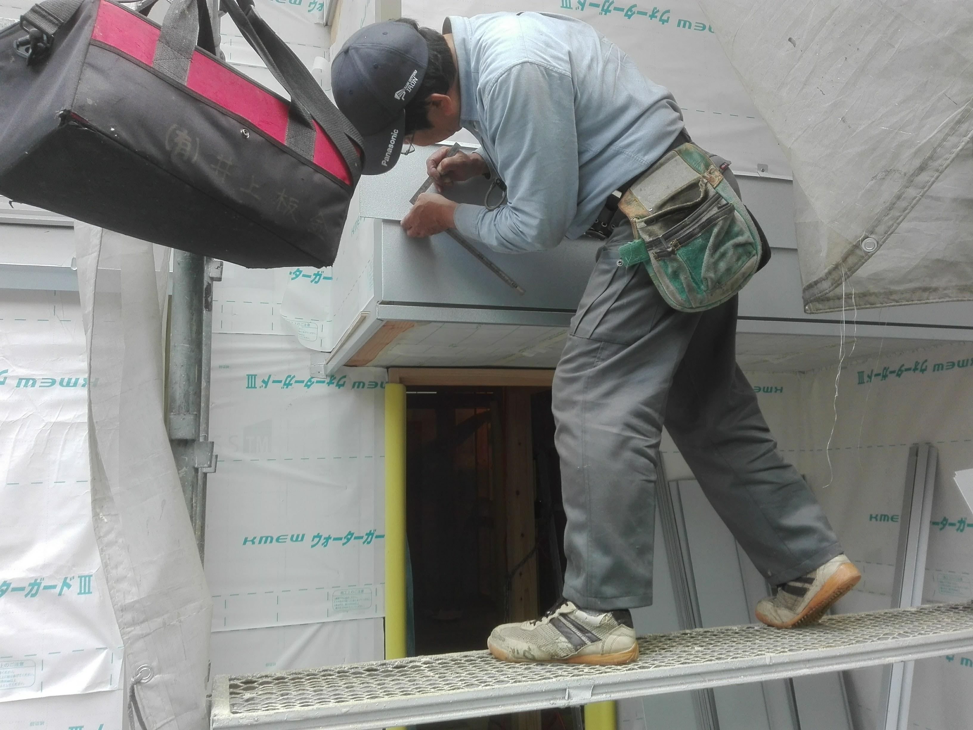 外壁工事が始まりました