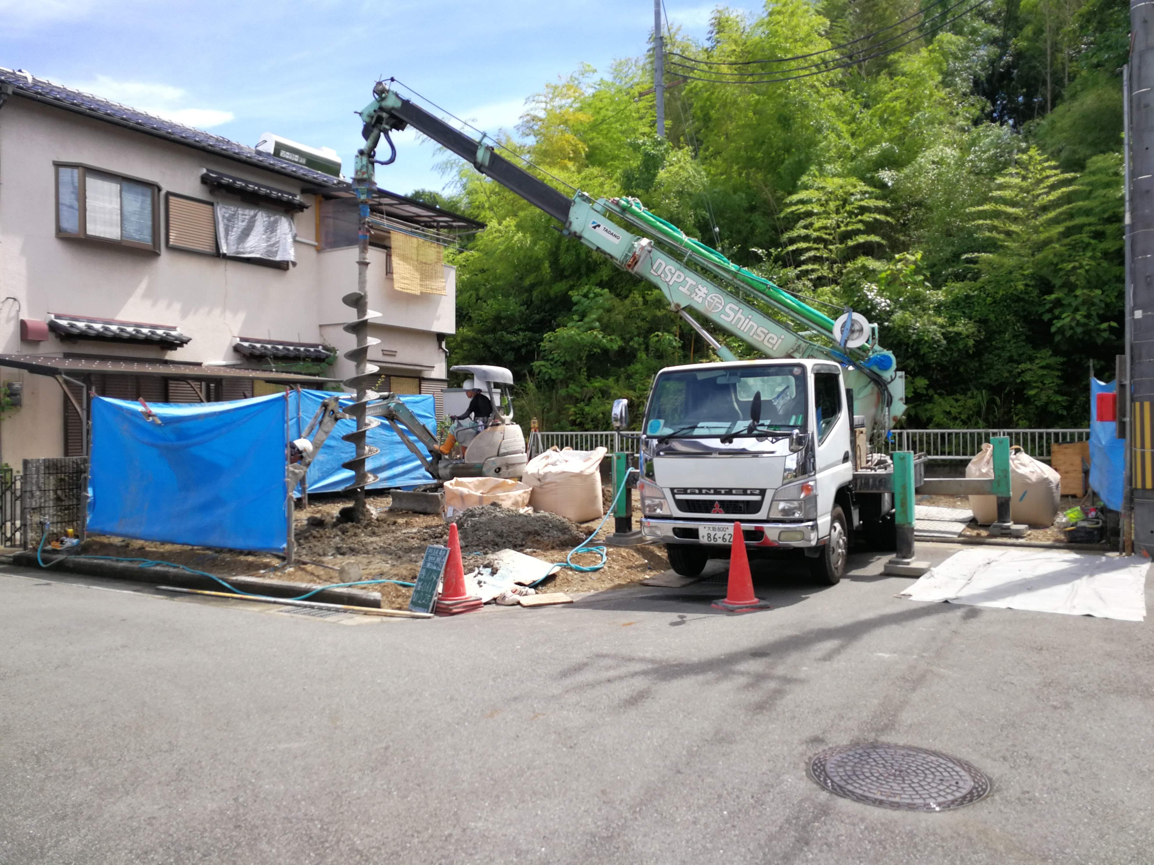 東多田の家 地盤改良工事が始まりました