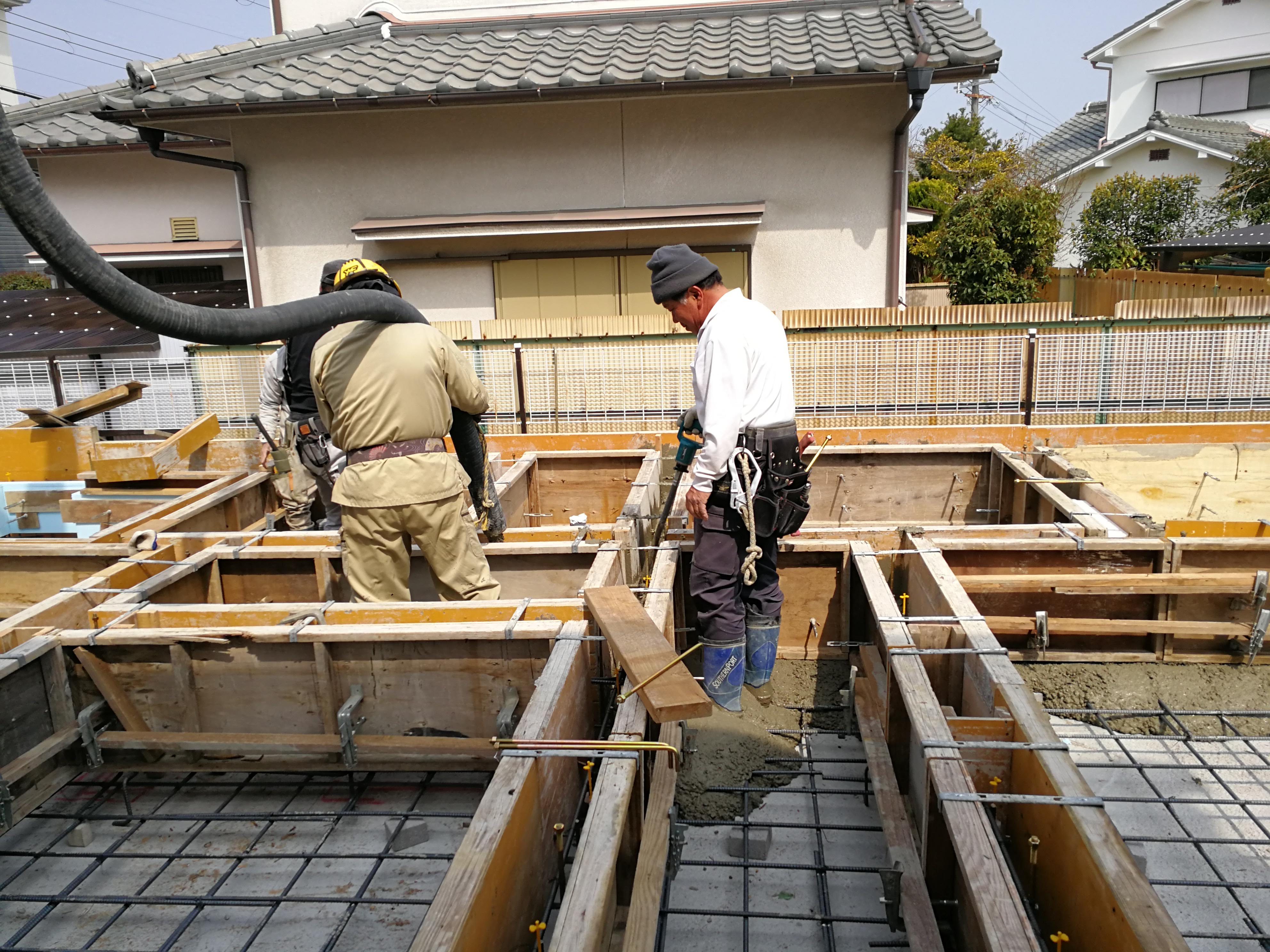 宮山の家 基礎コンクリート打設