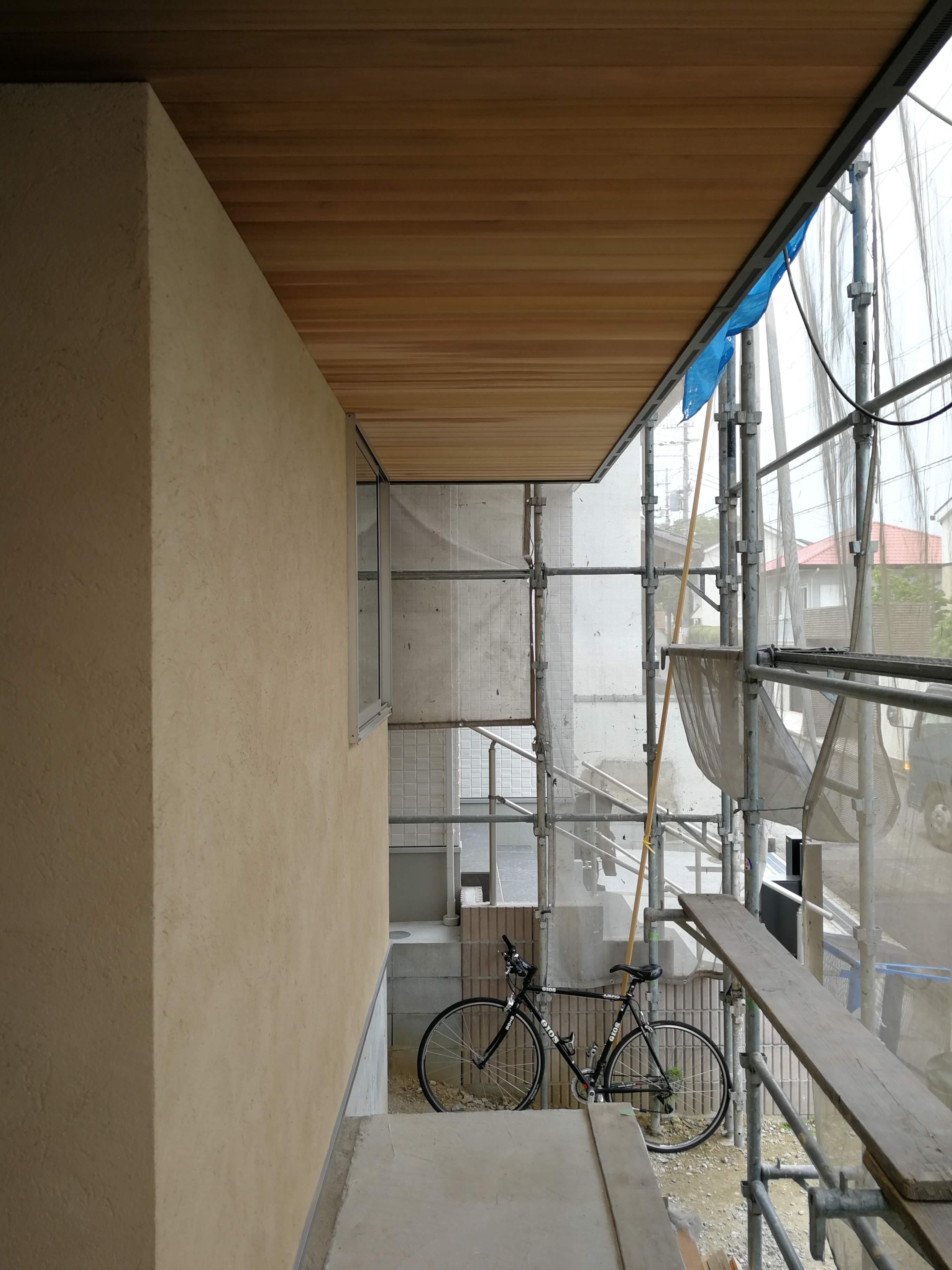 左官壁と米杉天井との奇麗な納まり